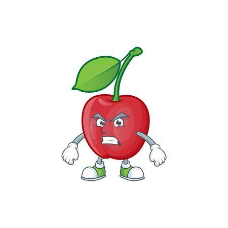 Scream cartoon bing cherries on white background vector illustration