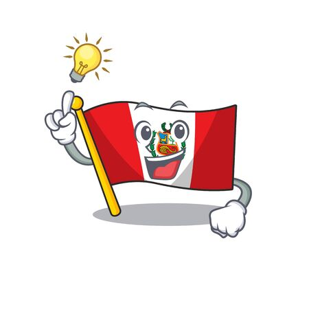 Have an idea peru flag stored in character drawer vector illustration