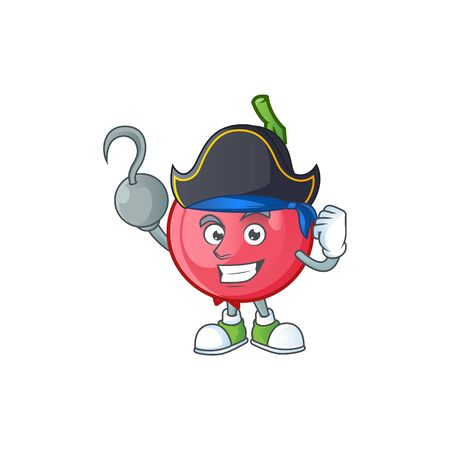 Pirate lovi lovi fruit in character mascot vector illustration