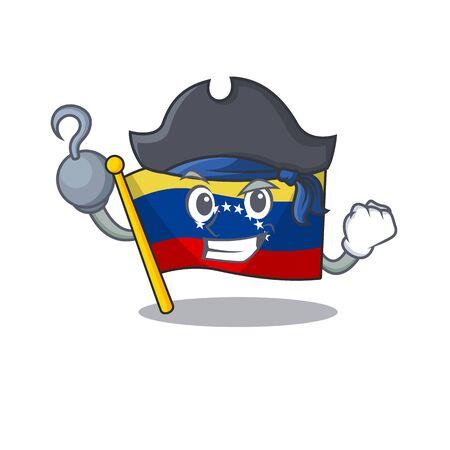 Pirate flag venezuela with the cartoon shape