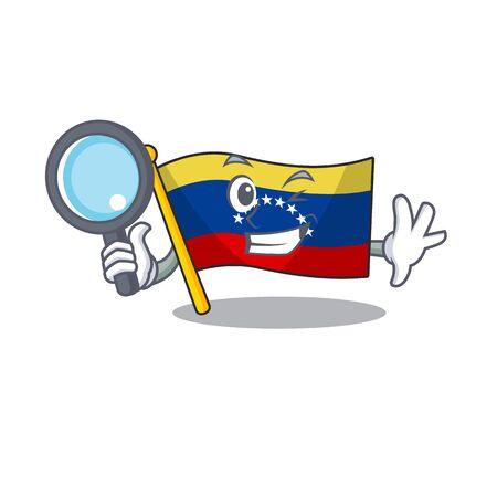 Detective venezuela flag in the character cupboard Ilustracja