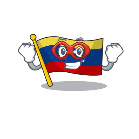 Super hero venezuela flag in the character cupboard