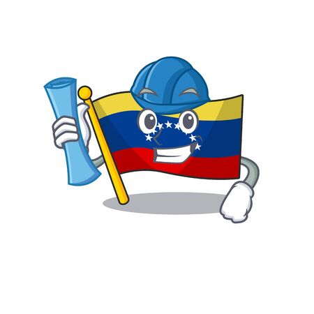 Architect venezuela flag in the character cupboard 일러스트