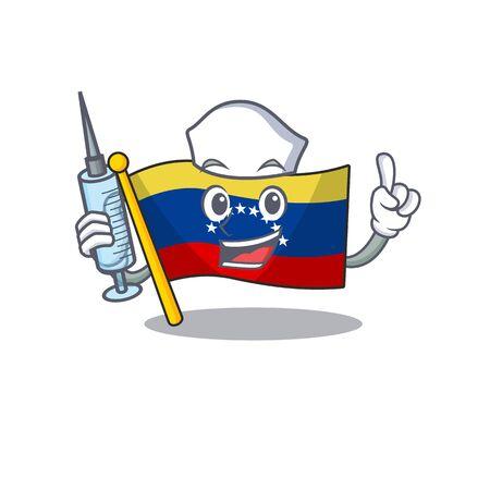 Nurse venezuela flag in the character cupboard Imagens - 129816844