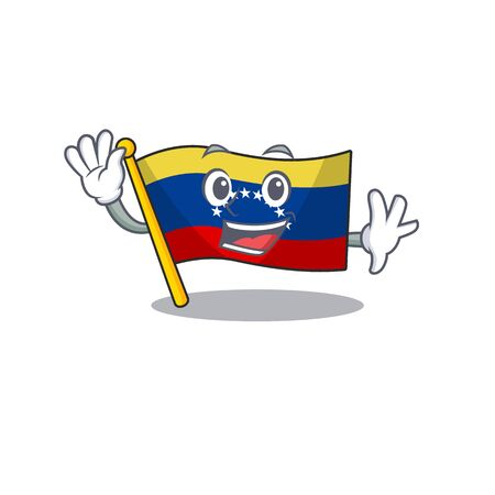 Waving venezuela flag in the character cupboard Illustration