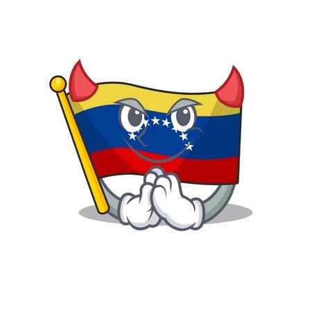 Devil flag venezuela isolated with the cartoon