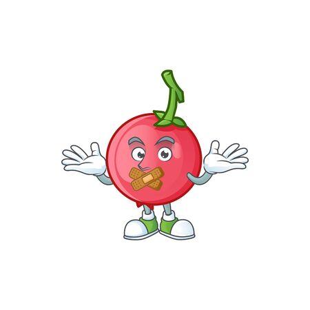 Silent mascot lovi lovi fruit on white background