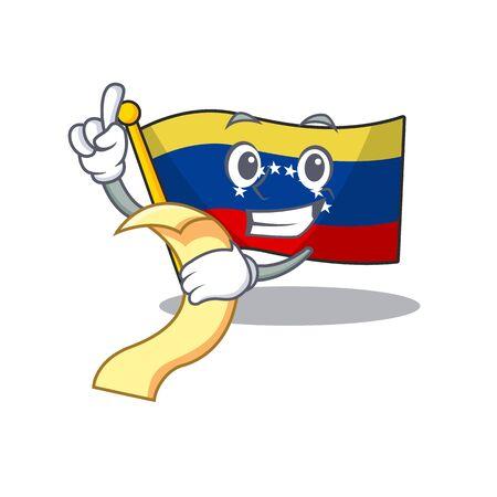 With menu flag venezuela isolated with the cartoon 向量圖像