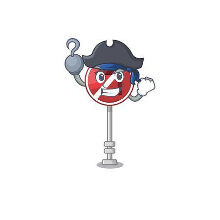 Pirate no left turn on the mascot Фото со стока - 129816869