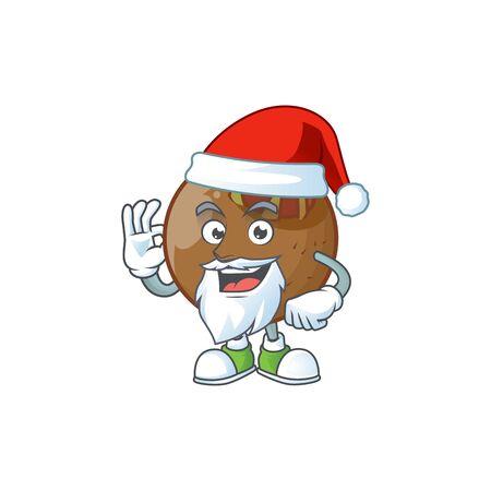 Santa medlar fruits cartoon character for design
