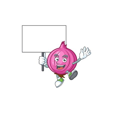 Bring board red onion cartoon for recipe food