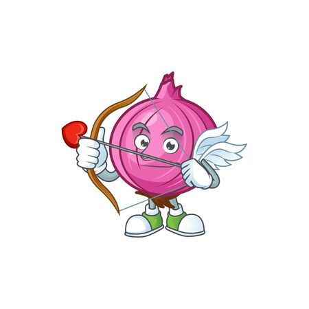 Cupid red onion cartoon for recipe food Illusztráció