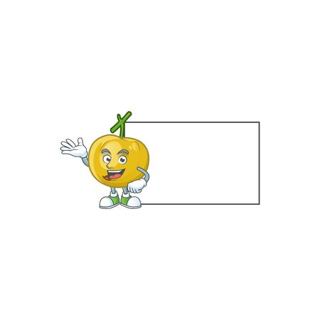 With board araza fruit design character for cartoon mascot  イラスト・ベクター素材