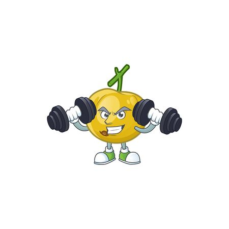 Fitness araza fruit design character for cartoon mascot