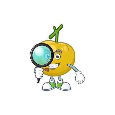 Detective fresh araza character on white background