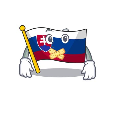 Silent flag slovakia folded the cartoon drawer vector illustration