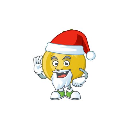 Santa sweet araza in cartoon mascot style