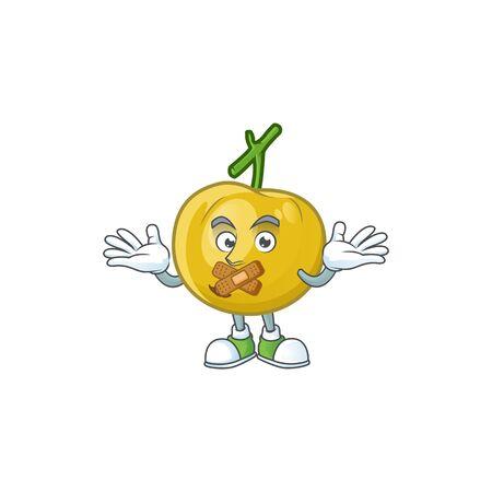 Silent sweet araza in cartoon mascot style