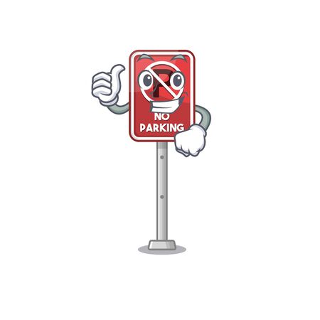 Thumbs up no parking isolated in the mascot vector illustration