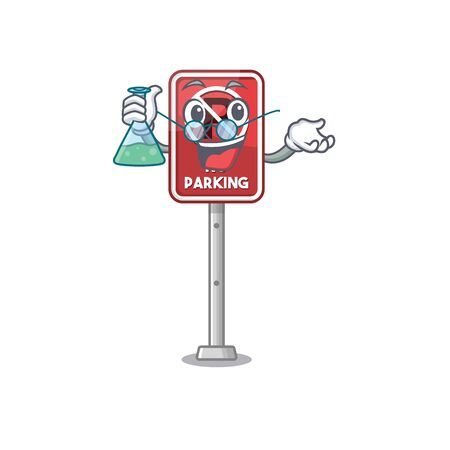 Professor no parking isolated in the mascot vector illustration