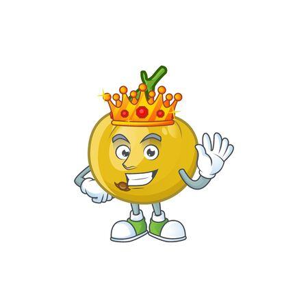 King sweet araza in cartoon mascot style