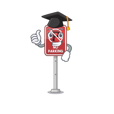Graduation no parking isolated in the mascot vector illustration Illustration