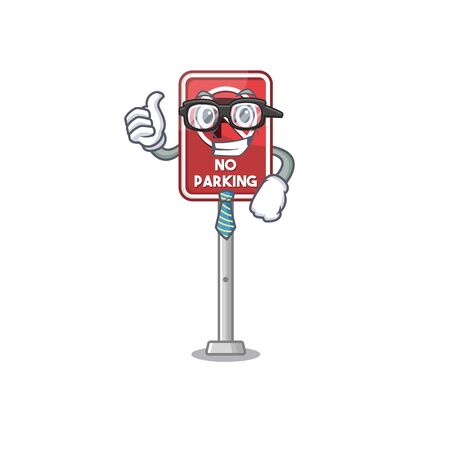 Businessman no parking isolated in the mascot vector illustration Illustration