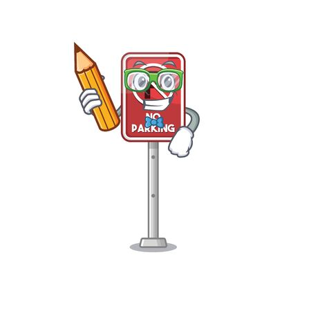 Student no parking isolated in the mascot vector illustration
