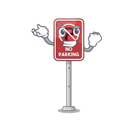 Successful no parking isolated in the mascot vector illustration Illustration