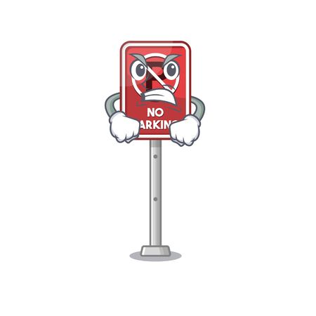 Angry toy no parking character in drawer vector illustration Фото со стока - 129910422