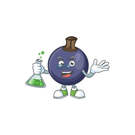 Professor blackcurrant fruit of cartoon character shape.