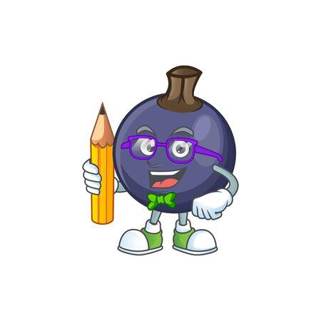 Student blackcurrant fruit of cartoon character shape.
