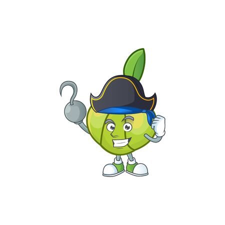 Pirate elephant apple fruit in cartoon character  イラスト・ベクター素材