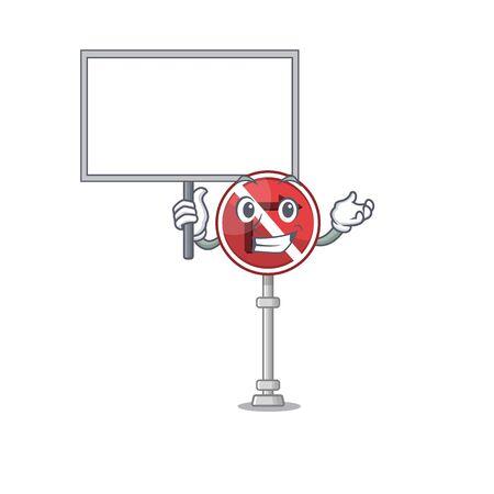 Bring board no right turn isolated with mascot vector illustration Illusztráció