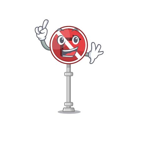 Finger no right turn in the character vector illustration