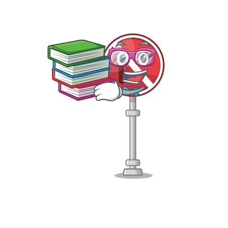 Student with book no right turn in the character vector illustration Illustration