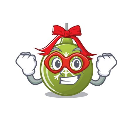 Super hero christmas ball green isolated the cartoon vector illustration