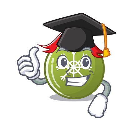 Graduation christmas ball green isolated the cartoon vector illustration
