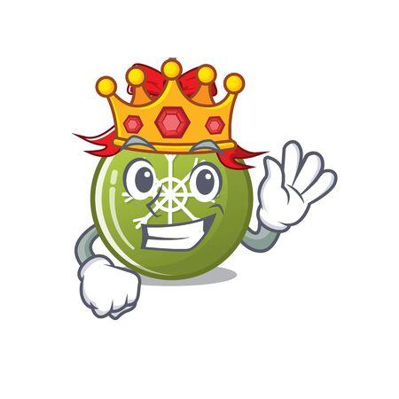 King christmas ball green cartoon decorate tree vector illustration