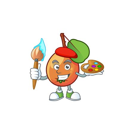 Painter shipova fruit cartoon character vector illustration