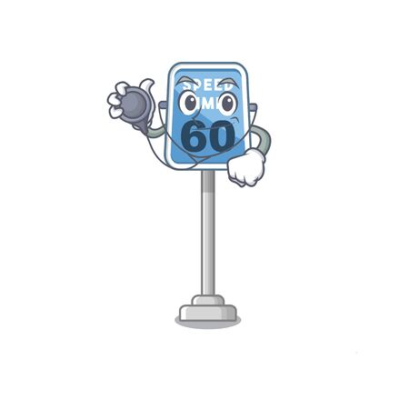 Doctor speed limit with the character shape vector illustration