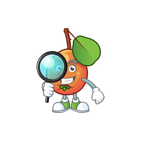 Detective fresh shipova character with design mascot vector illustration