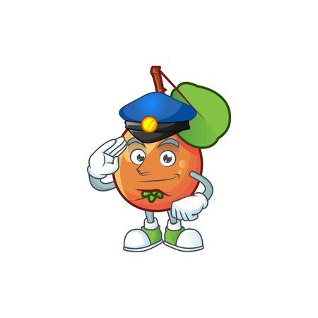 Police shipova fruit cartoon character