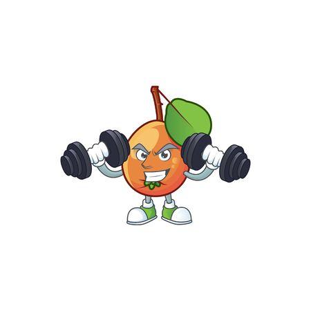 Fitness shipova fruit cartoon character Illusztráció