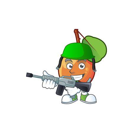 Army shipova fruit cartoon character