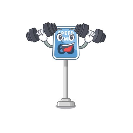 Fitness speed limit with the character shape vector illustration