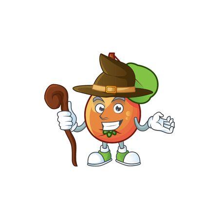 Witch ripe shipova cartoon character mascot shape Illusztráció