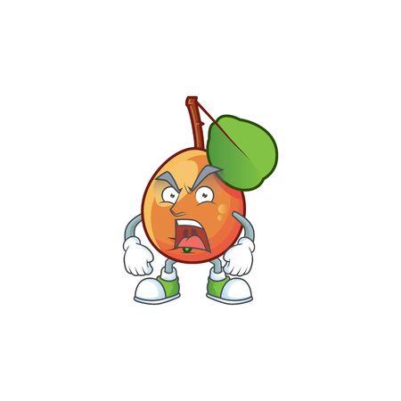 Angry ripe shipova cartoon character mascot shape