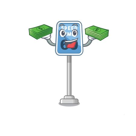 With money speed limit isolated in the mascot vector illustration