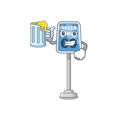 With juice speed limit isolated in the mascot vector illustration